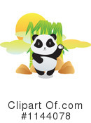 Royalty-Free (RF) Panda Clipart Illustration #1144078