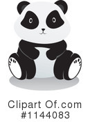Royalty-Free (RF) panda Clipart Illustration #1144083