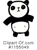 Royalty-Free (RF) Panda Clipart Illustration #1155049