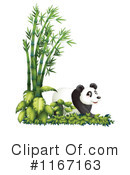 Royalty-Free (RF) Panda Clipart Illustration #1167163