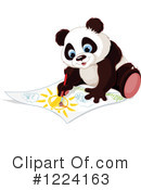 Panda Clipart #1224163 by Pushkin