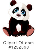Panda Clipart #1232098 by Pushkin