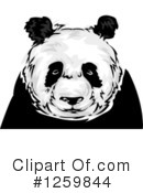 Royalty-Free (RF) Panda Clipart Illustration #1259844