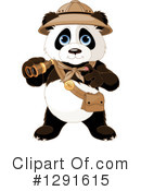 Panda Clipart #1291615 by Pushkin