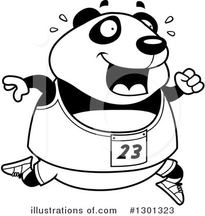 Panda Clipart #1301323 by Cory Thoman