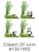 Royalty-Free (RF) Panda Clipart Illustration #1301652