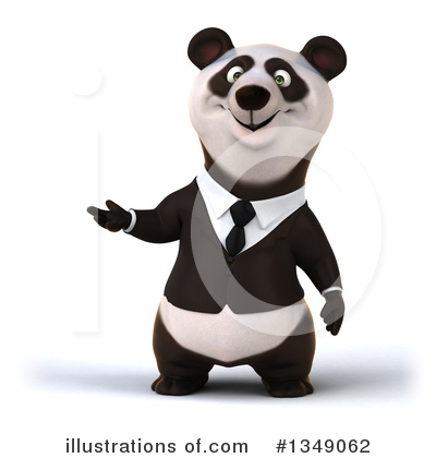 Business Panda Clipart #1349062 by Julos