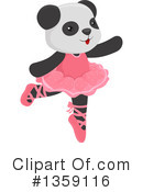 Royalty-Free (RF) Panda Clipart Illustration #1359116