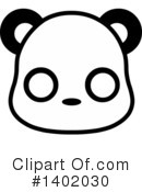 Panda Clipart #1402030 by Pushkin