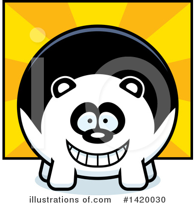 Panda Clipart #1420030 by Cory Thoman