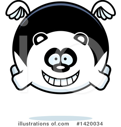 Panda Clipart #1420034 by Cory Thoman