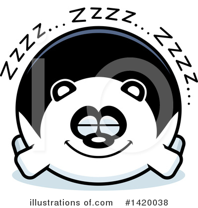 Panda Clipart #1420038 by Cory Thoman