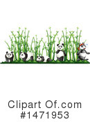 Royalty-Free (RF) Panda Clipart Illustration #1471953