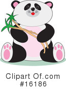 Royalty-Free (RF) Panda Clipart Illustration #16186