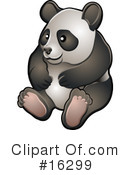 Royalty-Free (RF) panda Clipart Illustration #16299