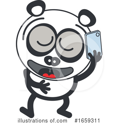 Royalty-Free (RF) Panda Clipart Illustration by Zooco - Stock Sample #1659311
