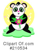 Royalty-Free (RF) Panda Clipart Illustration #210534