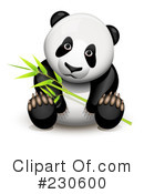Royalty-Free (RF) Panda Clipart Illustration #230600