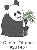 Royalty-Free (RF) Panda Clipart Illustration #231467