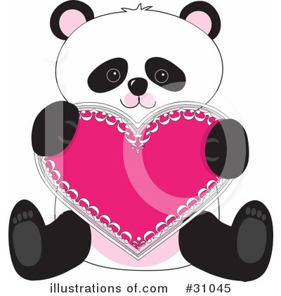 Royalty-Free (RF) Panda Clipart Illustration by Maria Bell - Stock Sample #31045
