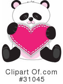 Royalty-Free (RF) Panda Clipart Illustration #31045