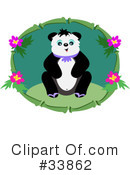 Royalty-Free (RF) Panda Clipart Illustration #33862