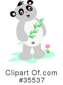Royalty-Free (RF) Panda Clipart Illustration #35537