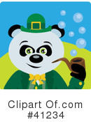 Royalty-Free (RF) Panda Clipart Illustration #41234
