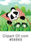 Royalty-Free (RF) Panda Clipart Illustration #58869