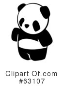 Royalty-Free (RF) Panda Clipart Illustration #63107