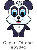 Royalty-Free (RF) Panda Clipart Illustration #69045
