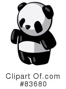 Royalty-Free (RF) panda Clipart Illustration #83680
