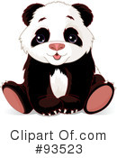 Royalty-Free (RF) Panda Clipart Illustration #93523