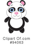 Royalty-Free (RF) Panda Clipart Illustration #94063