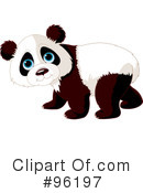 Royalty-Free (RF) Panda Clipart Illustration #96197