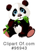 Royalty-Free (RF) panda Clipart Illustration #96943