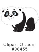 Royalty-Free (RF) Panda Clipart Illustration #98455