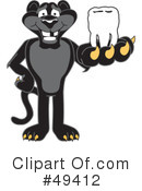 Royalty-Free (RF) Panther Character Clipart Illustration #49412