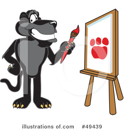 Panther School Mascot Clipart #49439 by Toons4Biz