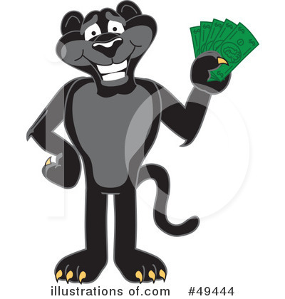 Panther School Mascot Clipart #49444 by Toons4Biz