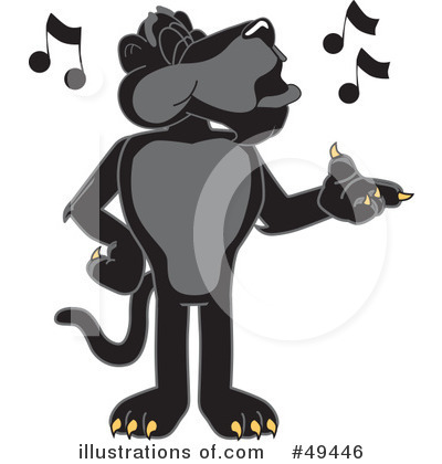 Panther School Mascot Clipart #49446 by Toons4Biz