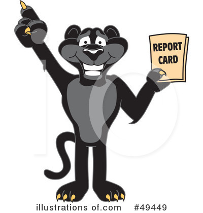 Panther School Mascot Clipart #49449 by Toons4Biz
