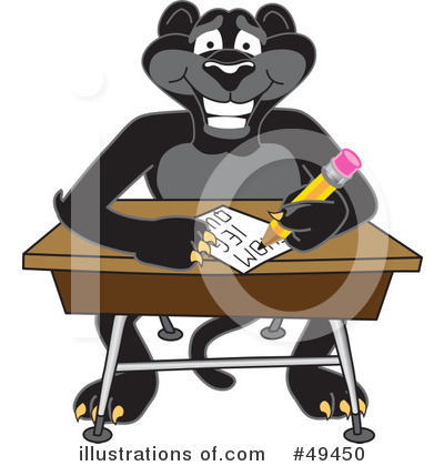 Panther School Mascot Clipart #49450 by Toons4Biz