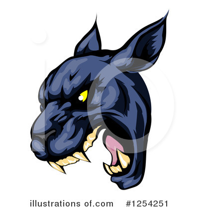 Panther Clipart #1254251 by AtStockIllustration