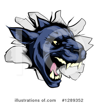 Panther Clipart #1289352 by AtStockIllustration