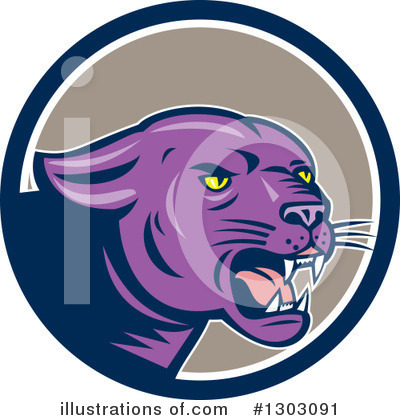 Panther Clipart #1303091 by patrimonio