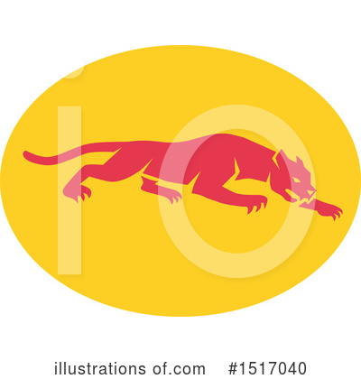 Royalty-Free (RF) Panther Clipart Illustration by patrimonio - Stock Sample #1517040