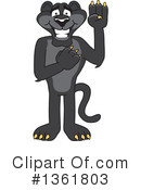 Panther School Mascot Clipart #1361803 by Toons4Biz