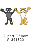 Panther School Mascot Clipart #1361822 by Toons4Biz