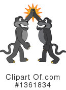 Panther School Mascot Clipart #1361834 by Toons4Biz
